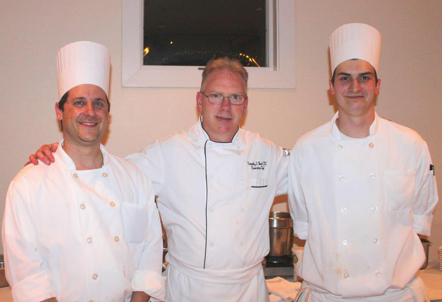 Members of our culinary team, Sous Chef, Bill Berman, Executive Chef, Tim Shutt and Sous Chef, Nathan Friend